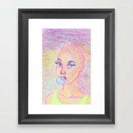 Bubblegum girl Framed Art Print