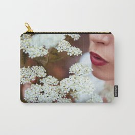Kiss the Flowers Carry-All Pouch