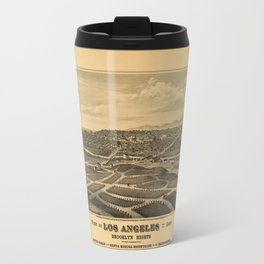 Aerial View of Los Angeles, California (1877) Travel Mug
