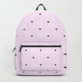 Grey Dot Pattern - Pale Pink Background Backpack