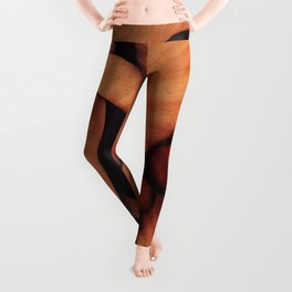 Abstract fantasy marquetry art picture Leggings