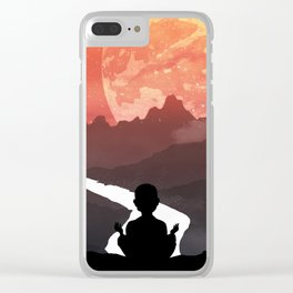 Let your fears run down the creek. Clear iPhone Case