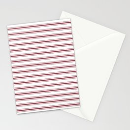 Dark Red Pear Mattress Ticking Wide Striped Pattern - Fall Fashion 2018 Stationery Cards