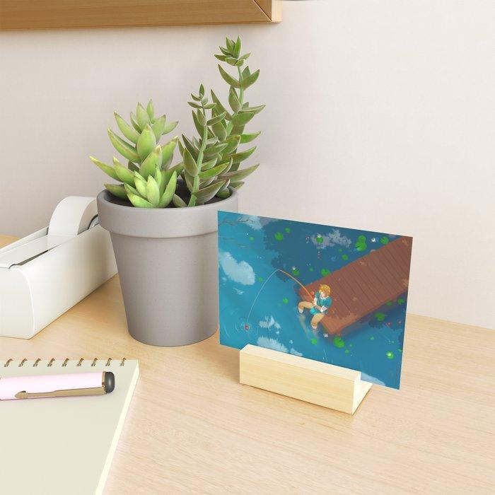 Time to fish! Mini Art Print