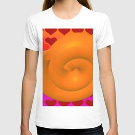 A snail shell for two ... T-shirt