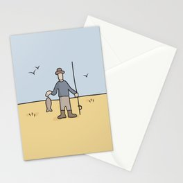 Beavid and Butthead Fisherman picture Stationery Cards