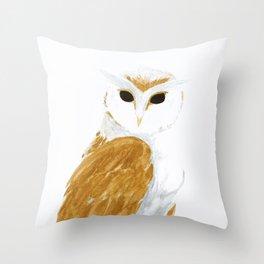 Golden Owl Throw Pillow