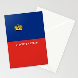 Liechtenstein country flag name text Stationery Cards