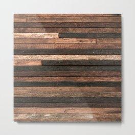 Vintage Wood Plank Metal Print