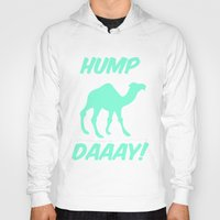 tiffany Hoodies featuring Hump Day Tiffany Camel by RexLambo