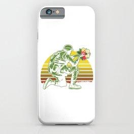 Flowers Retro Vintage Soldier With Florist Garden Gift iPhone Case