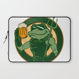 frog enjoy a glass of beer Laptop Sleeve