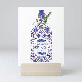 Save Water Drink Gin Mini Art Print
