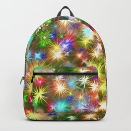 Star colorful christmas abstract Backpack