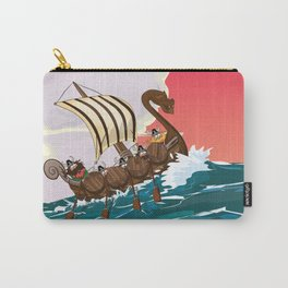 Viking Invasion fleet in the evening sunset Carry-All Pouch