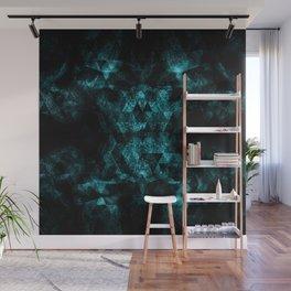 Triangle Geometric Turquoise Smoky Space Wall Mural