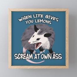 Possum Wisdom Framed Mini Art Print