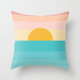sunrise /sunset Throw Pillow