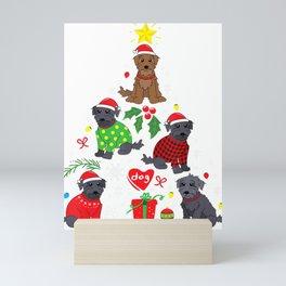 Schnoodle Christmas Tree Ornament Funny Pet Dog Gift Mini Art Print