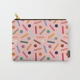 Postmodern Sticks + Stones in Pastel Pink Carry-All Pouch