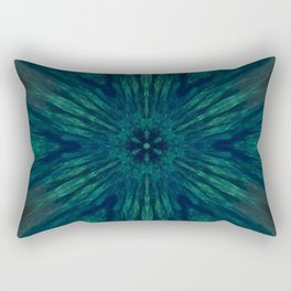 Blue Green Marine Flower Rectangular Pillow