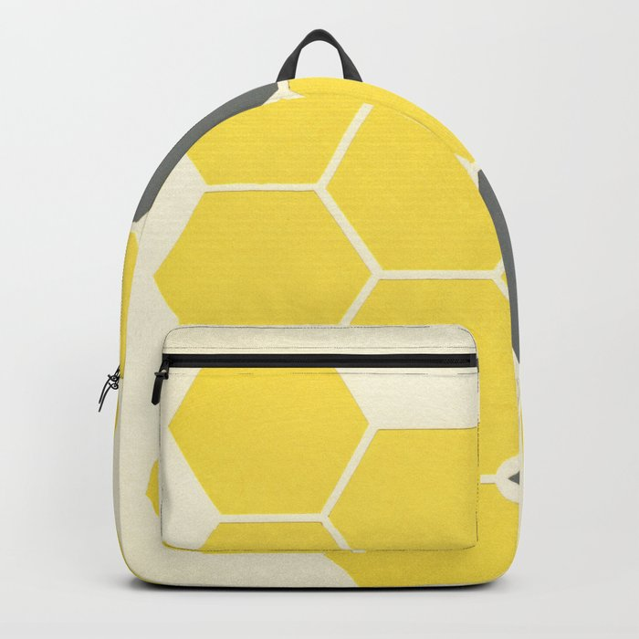 Yellow Honeycomb Backpack