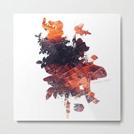 Mask Flow Fire Metal Print