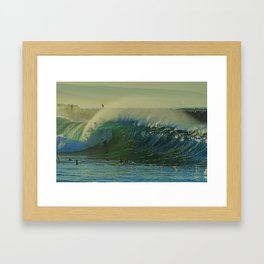 Offshores Blowing at the Wedge Framed Art Print