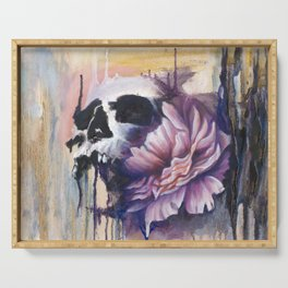 Skull and Flower Serving Tray