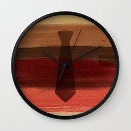 Watercolor father necktie Wall Clock