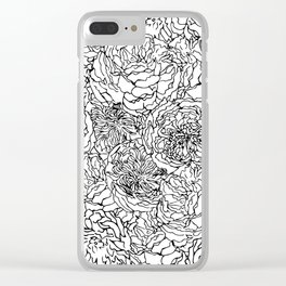 SPRING IN BLACK AND WHITE Clear iPhone Case
