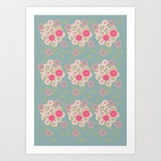 Flower pad Art Print