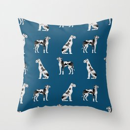 Great Dane harlequin coat dog breed gifts pet patterns for pure breed lovers Throw Pillow
