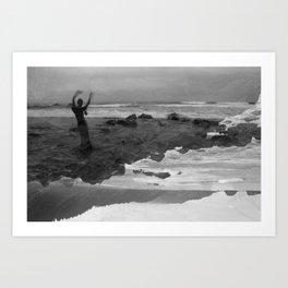 Whaleshead Beach Self Portrait I Art Print