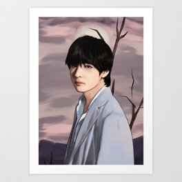 BTS V LOVE YOURSELF FANART Art Print