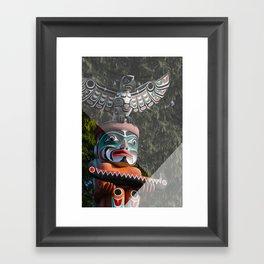 Geometric Totem Pole Framed Art Print