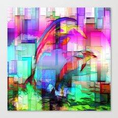 Dolphins Tim Henderson Canvas Print
