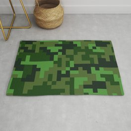 Green Jungle Army Camo pattern Rug