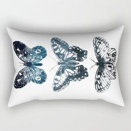 Butterfly Tattoo in Black and Blue Rectangular Pillow