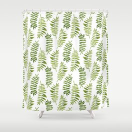 Watercolor hand-painted floral summer exotic tropical leaves seamless pattern Shower Curtain