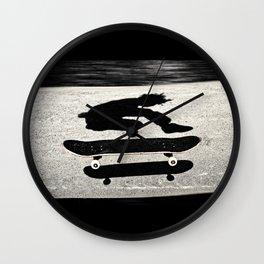 snadwiched skateboard Wall Clock