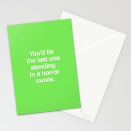 Last One Standing Stationery Cards