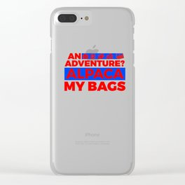 An Adventure Alpaca My Bags 5 1 Clear iPhone Case