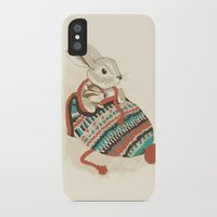 animals iPhone & iPod Cases featuring cozy chipmunk by Laura Graves