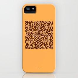adoption kuba cloth (applique version) iPhone Case