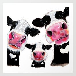 CoW PRiNT ANiMaL PRiNT ' THe NoSeY FaMiLY ' BY SHiRLeY MacARTHuR Art Print
