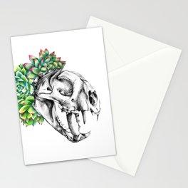 Rock Rose Cat Skull Stationery Cards