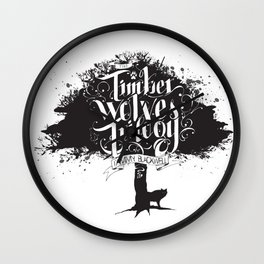 The Timber Wolves Trilogy Wall Clock