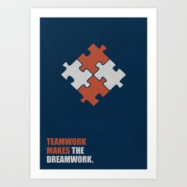 Lab No. 4 - Teamwork makes the dreamwork corporate start-up quotes Poster Art Print