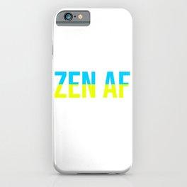Zen AF Lotus Flower iPhone Case